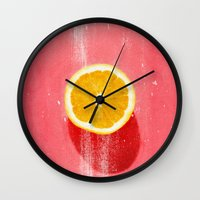 fruit Wall Clocks featuring fruit 5 by LEEMO