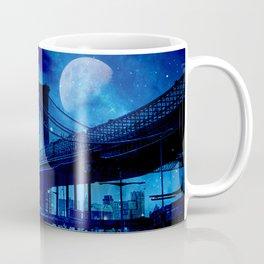 Full Moon Over Brooklyn Bridge Coffee Mug
