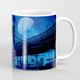 Full Moon Over Brooklyn Bridge Coffee Mug
