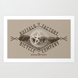 BUFFALO FACTORY Bicycle Company  Art Print