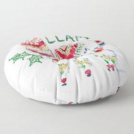 HOLLY LLAMA Holiday Watercolor Floor Pillow