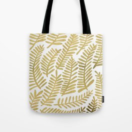 Gold Fronds Tote Bag