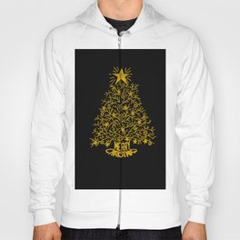 golden christmas tree Hoody