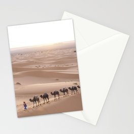 Camels in the Sahara Stationery Cards