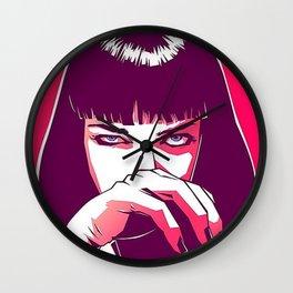 Pulp Fiction Mia Wallace Wall Clock