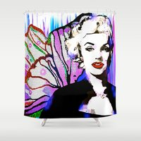marilyn Shower Curtains featuring Marilyn  by Saundra Myles