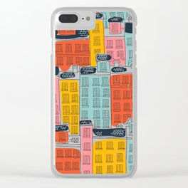 Cinque Terre Houses Clear iPhone Case