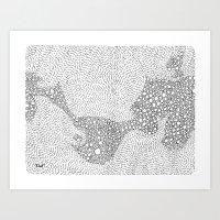 the mole's hyperacidity   white Art Print