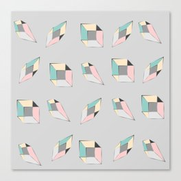 Geometric figures of colors Canvas Print