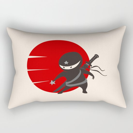 LITTLE NINJA STAR Rectangular Pillow