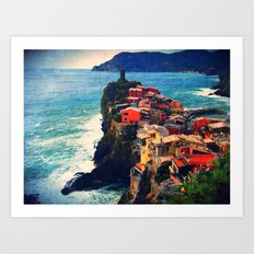 Cliff Living Art Print