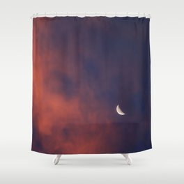 Hide and Go Find Moon Shower Curtain