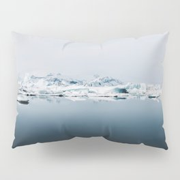 Ethereal Glacier Lagoon in Iceland - Landscape Photography Pillow Sham