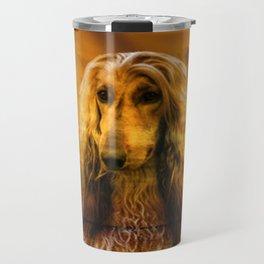 Dog Afghan Hound Travel Mug