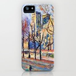 View of Notre Dame from the Quay Montebello by Maximilian Luce iPhone Case