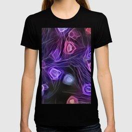 Purple Electric Hazy Daze - Abstract Art T-shirt