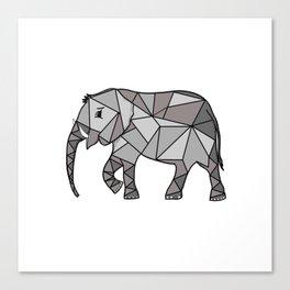 Elephant geometric, bishop grey, home decor, Graphicdesign Canvas Print