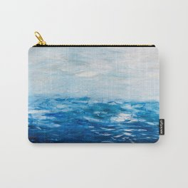 Paint 10 abstract water ocean seascape modern painting dorm room decor affordable stretched canvas Carry-All Pouch