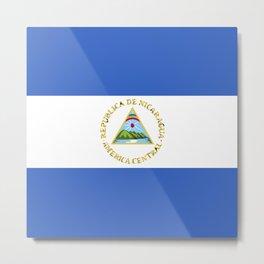 Nicaragua flag emblem Metal Print