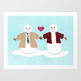 More Profound Snowmen Art Print