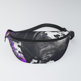 HORSE BLACK AND PURPLE THUNDER INK SPLASH Fanny Pack