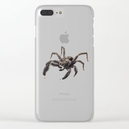Black spider Clear iPhone Case