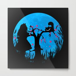 Alice In Wonderland Blue Moon Metal Print