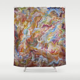 no. 42 (sticky) Shower Curtain
