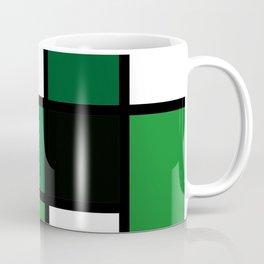 Green Mondrian Coffee Mug