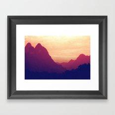 Mountain Twins Framed Art Print