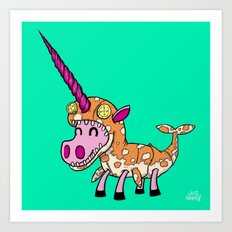 Unicorn in Narwhal Costume! Art Print