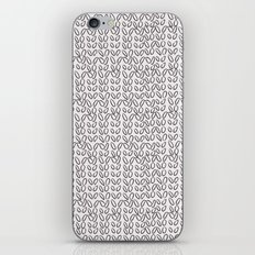 Knitting Knit Pattern - Doodle - Black and White Ink iPhone & iPod Skin