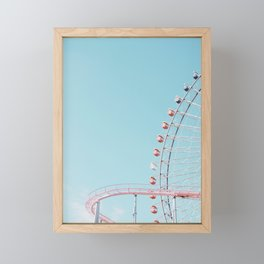 Pastel funfair Framed Mini Art Print