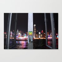hong kong Canvas Prints featuring Hong Kong  by Chernyshova Daryna