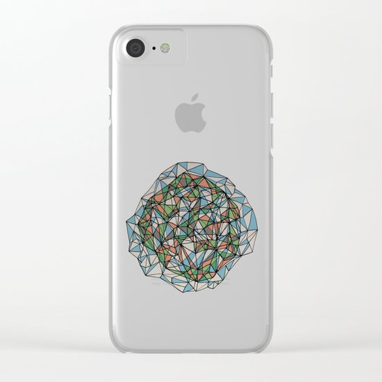 - blue orange green - Clear iPhone Case