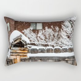 Snow House Rectangular Pillow