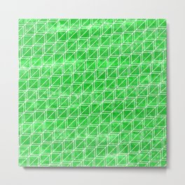 Green Geometric Pattern Metal Print
