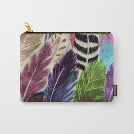 Pattern Feathers Carry-All Pouch
