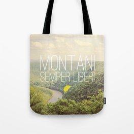 West Virginia, Montani Semper Liberi Tote Bag