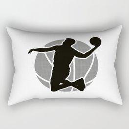 Basketball Player (black) Rectangular Pillow