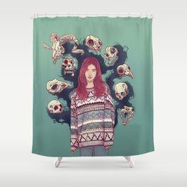 Fearless  Lady Shower Curtain
