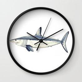 Mako shark (Isurus oxyrinchus) Wall Clock