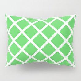Criss-Cross (White & Green Pattern) Pillow Sham