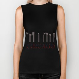 chicago skyline Biker Tank