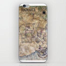 Hogwarts Map iPhone Skin