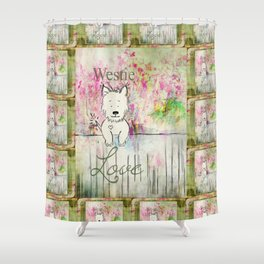 Westie Love ~ West Highland Terrier Shower Curtain