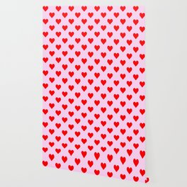 love heart pattern pink and red Wallpaper