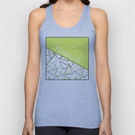 The fitness club . Sport . Lemon white creative sport pattern . Unisex Tank Top
