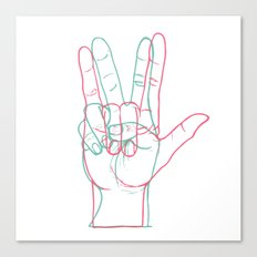 PEACE&LOVE Canvas Print