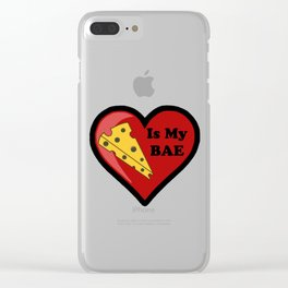Cheese Is My BAE Clear iPhone Case